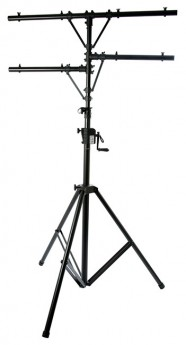 On Stage Lighting Stand with Power Crank-Up System