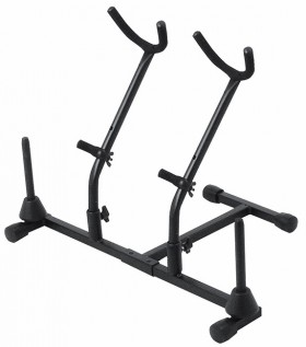 On Stage Double Alto/Tenor Saxophone & Double Flute Stand
