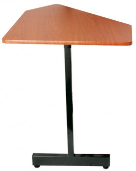 On Stage Workstation Corner Accessory Table in Rosewood/Black Steel Frame