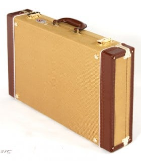 XTREME Vintage Style Pedal Road Case Tweed Covered Tan