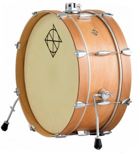 """Dixon Little Roomer Series Bass Drum in Satin Natural Lacquer Finish - 7 x 20"""""""