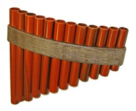 Opus Percussion 12-Hole Handmade Pan Flute with Storage Cover