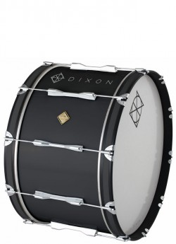 """Dixon Wood Marching Bass Drum in Black (18 x 14"""")"""