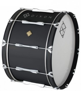 """Dixon Wood Marching Bass Drum in Black (24 x 14"""")"""