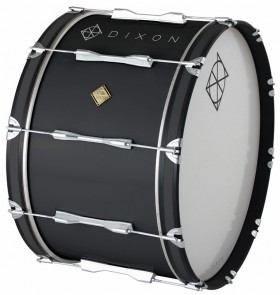 """Dixon Wood Marching Bass Drum in Black (26 x 14"""")"""