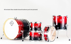 Dixon Fuse Maple 522 Series 5-Pce Drum Kit in Candy Red Fade Gloss