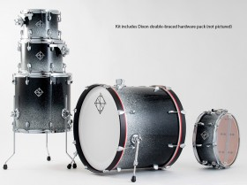 Dixon Fuse Maple 522 Series 5-Pce Drum Kit in Hyperspace Gloss
