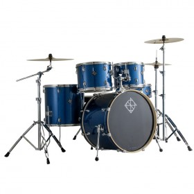 Dixon Spark Series 5-Pce Drum Kit with Cymbals in Ocean Blue Sparkle