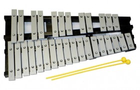 Percussion Plus 30-Note Glockenspiel with Black Wood Folding Frame & Bag