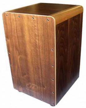 Opus Percussion Wooden Cajon in Walnut with Deluxe Carry Bag