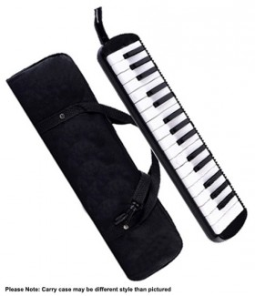 QM Musical 32-Key Melodica in Black with Bag