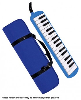 QM Musical 32-Key Melodica in Blue with Bag