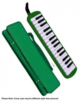 QM Musical 32-Key Melodica in Green with Bag
