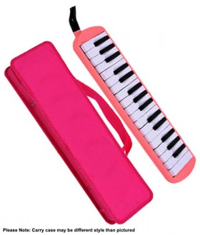 QM Musical 32-Key Melodica in Pink with Bag