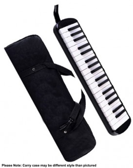 QM Musical 37-Key Melodica in Black with Bag