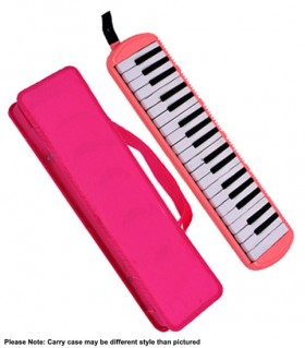QM Musical 37-Key Melodica in Pink with Bag
