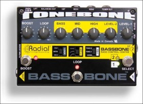 BASSBONE V2 - BASS PREAMP AND DI BOX WITH POWER