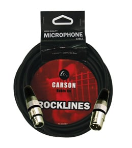 CARSON CABLE CO 020 Ft Mic Cable Female Xlr To Male Xlr 6.8Mm O/