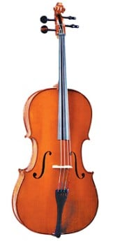 VALENCIA 4/4 Size Cello Outfit Traditional Chestnut