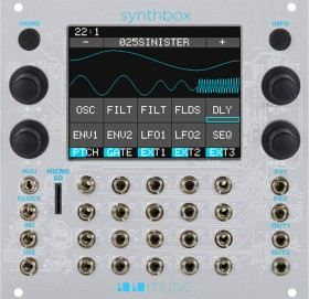 SYNTHTHBOX EURORACK MODULE WITH TOUCHSCREEN