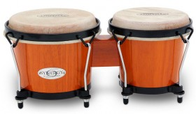 """Toca 6 & 6-3/4"""" Synergy Series Wooden Bongos in Amber"""
