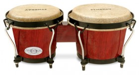"""Toca 6 & 6-3/4"""" Synergy Series Wooden Bongos in Rio Red"""