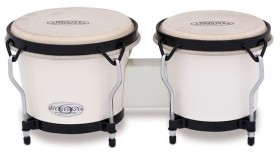 """Toca 6 & 6-3/4"""" Synergy Series Synthetic Bongos in White"""