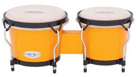 """Toca 6 & 6-3/4"""" Synergy Series Synthetic Bongos in Yellow"""
