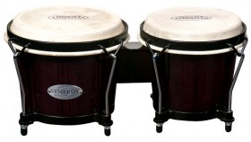 """Toca 6 & 6-3/4"""" Synergy Series Wooden Bongos in Trans Black"""