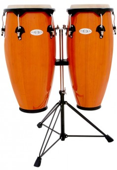 """Toca 10 & 11"""" Synergy Series Wooden Conga Set in Amber"""