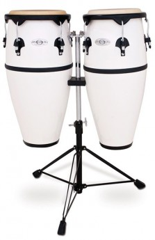 """Toca 10 & 11"""" Synergy Series Synthetic Conga Set in White"""