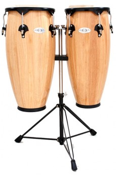 """Toca 10 & 11"""" Synergy Series Wooden Conga Set in Natural"""