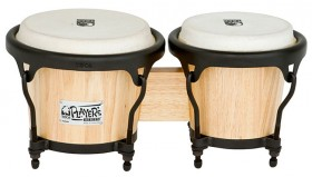 """Toca 5-1/2 & 7"""" Players Series Wooden Bongos in Natural"""