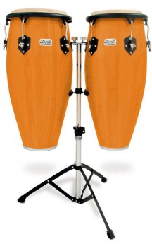 """Toca 11 & 11""""-3/4"""" Players Series Wooden Conga Set in Amber"""