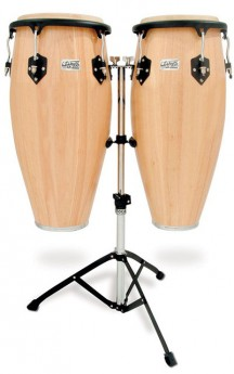 """Toca 11 & 11""""-3/4"""" Players Series Wooden Conga Set in Natural"""