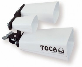 Toca Contemporary Series Triple Fusion Bells with Mount in White