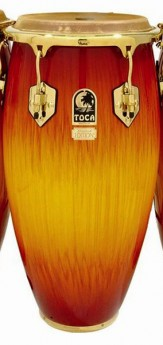 """Toca LE Series 11-3/4"""" Wooden Conga in Firestorm"""