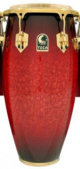 """Toca LE Series 12-1/2"""" Wooden Tumba in Bordeaux"""