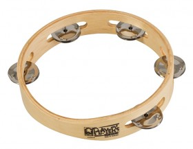 """Toca Players Series 7-1/2"""" Wooden Tambourine with Single Row Of Jingles"""