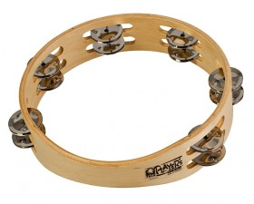 """Toca Players Series 9"""" Wooden Tambourine with Double Row Of Jingles"""