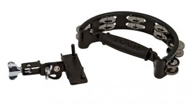 Toca Tambourine with Easy Place Mount & Double Nickel Plated Jingles