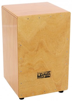 Toca Players Series Wooden Cajon in Natural Gloss with Internal Wire Snares
