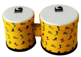 """Toca 5 & 6"""" Freestyle Series Synthetic Bongos in Lizard Pattern"""