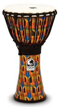 """Toca Freestyle 2 Series Djembe 10"""" in Kente Cloth"""