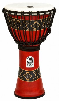 """Toca Freestyle 2 Series Djembe 10"""" in Bali Red"""