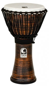 """Toca Freestyle 2 Series Djembe 10"""" in Spun Copper"""