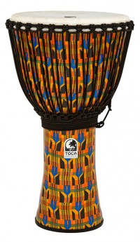 """Toca Freestyle 2 Series Djembe 14"""" in Kente Cloth with Bag"""