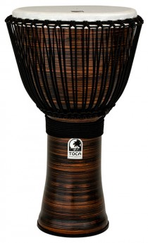"""Toca Freestyle 2 Series Djembe 14"""" in Spun Copper with Bag"""