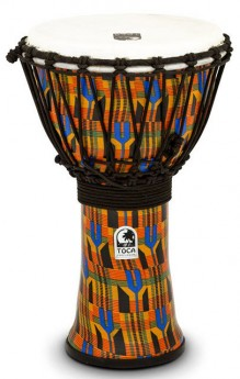 """Toca Freestyle 2 Series Djembe 9"""" in Kente Cloth"""