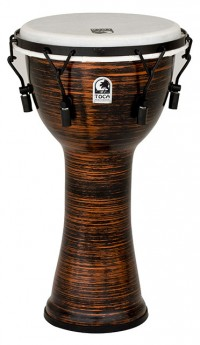 """Toca Freestyle 2 Series Mech Tuned Djembe 10"""" in Spun Copper"""